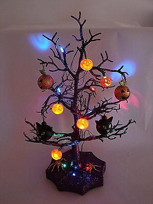 Halloween Decorations – SPOOKY LED LIGHTED HALLOWEEN TREE - Quality Indoor Party