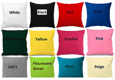 Plain Cotton Cushion Cover All Sizes Available ** Make to Order Sofa Cover **