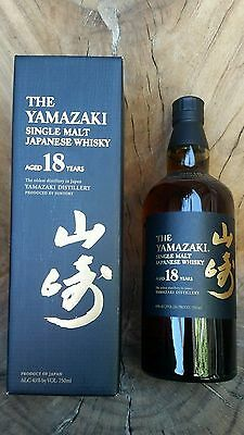 Yamazaki 18yr old whisky 700ml RARE in box *No Reserve*