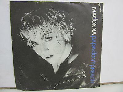 Madonna - Papa Don't Preach - 1986 - UK - Blue Labels - VG+/VG