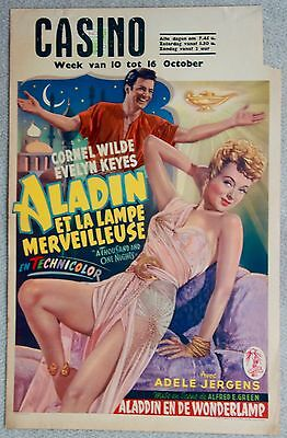 A THOUSAND AND ONE NIGHTS Cornel Wilde VINTAGE ORIGINAL Belgian movie poster