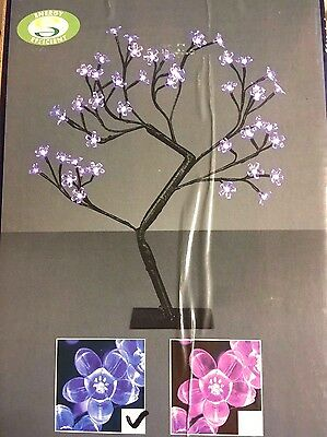 Premier Small Led Christmas Tree Blue Leds Cherry Blossom Indoor Outdoor 45Cm