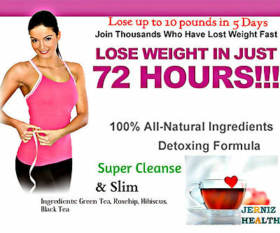 Slimming&Weight loss TeaTox-Plus-Strong Detox Diet-Herbal Fat Burner Green Tea