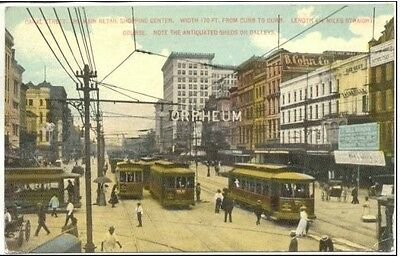 ZX403 Canal Street New Orleans Louisiana LA Orpheum Street Cars Vintage  PC