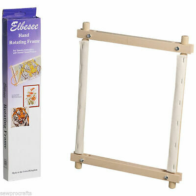 Elbesee Hand Rotating Frames - ALL SIZES Needlework Tapestry Frames Sewing Craft