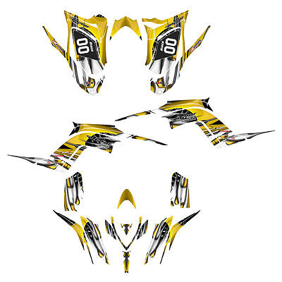 Raptor 700 R graphics Yamaha decal kit 2013 2014 2015 2016  #4444-YELLOW