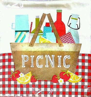 Napkins Pack Of 20 Picnic 3 Ply