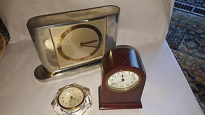 Three Assorted Clocks Including Ansonia