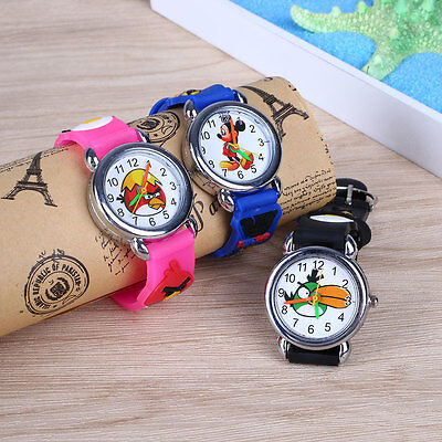 Frozen Silicone Elsa & Anna Children Kids Child Quartz Wrist Watch Random Color