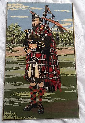 Scottish Bagpiper Needlework - Very Well Done 706