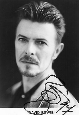 Authentic David Bowie Signed Official 7 X 5 Promo Photo...real Signature