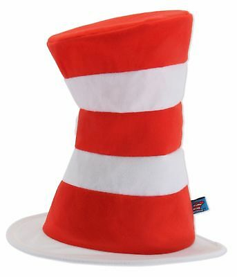 Dr Seuss Cat In The Hat Adult Red and White Striped Costume Economy Hat