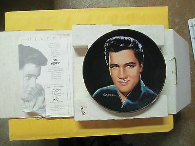 """1991 Delphi Elvis Presley """"i'm Yours"""" Collector's Plate Mint In Box"""