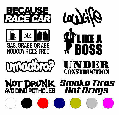 Jdm Car Sticker Decal Vinyl (8)Pack Lot Tuner Euro Funny Boost Stance Low