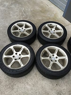 For Sale: 4 X Ford Tickford Gt Mag Wheels With Good  235/45/r17 Tyres!