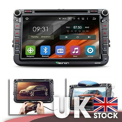 """Android 5.1.1 8"""" Car GPS w/ Mutual Control EasyConnection for Volkswagen VW"""