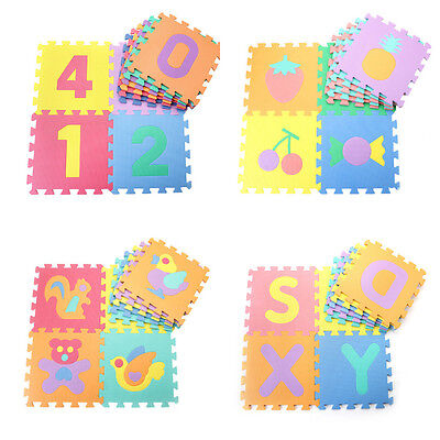 10/30/50pcs Kids Soft Interlock Foam Crawling Mat Play Puzzle Rug Floor Pads