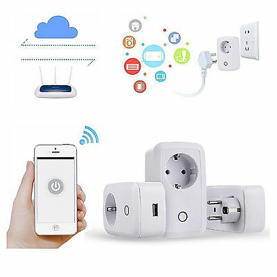 Smartphone Control remoto inalámbrico WiFi Smart Power enchufe de zócalo blanco