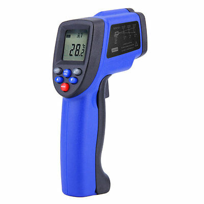 Hot Non-Contact IR Infrared Digital Laser Thermometer -50oC to 900oC Blue F7
