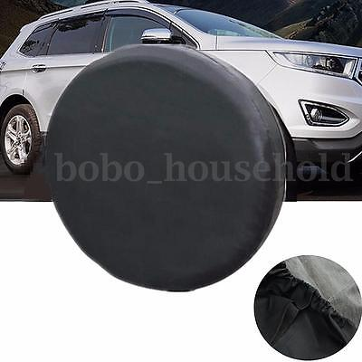 14'' Universal Soft Black Spare Tire Leather Cover Wheel Cover For All Cars Tyre