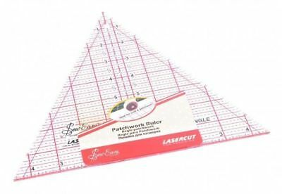 """SEW EASY PATCHWORK RULER 8"""" x 9.5"""" 60 DEGREE TRIANGLE, FOR CRAFT, QUILTING & PAT"""