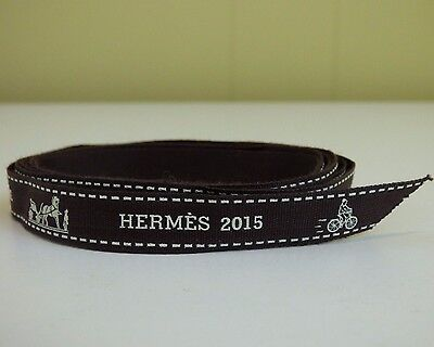 Authentic Hermes Ribbon 2015 Invitation A La Flanerie Brown Bike Bicycle