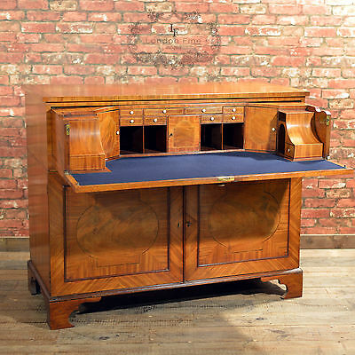 Antique Georgian Secretaire Cabinet, English Writing Desk Bureau, c.1780