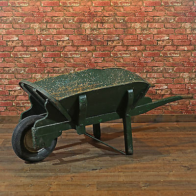 Antique Victorian Garden Wheelbarrow, Wooden Display Cart, Planter, 19th Century