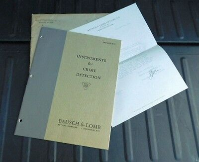 Bausch & Lomb Instruments For Crime Detection Catalog D-17 1938