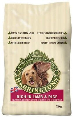 Harrington's Dog Food Complete Lamb and Rice Dry Mix 15kg - Only 2 left!