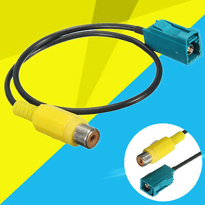 Video Adapter Cable Connector RCA Fakra Line Comand Reversing Camera For Vehicle