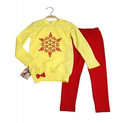 Girls Christmas Long Sleeve T-shirt and Leggings Set/outfit Age 1 year - 4 years