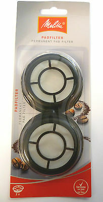 18 Packs Of 2 Melitta Permanent Coffee Filter Pads Senseo Coffee Shop Caterer