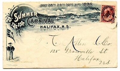 Summer Carnival Halifax 3c Numeral 1898 cover Canada