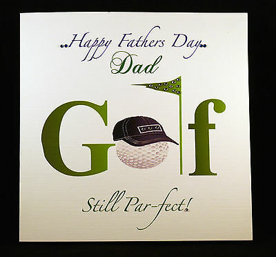 Handmade Personalised Fathers Day Card Golf Theme