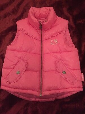 Hello Kitty Padded Gilet Body Warmer Pink H&M Age 5-6 Cosy Cute