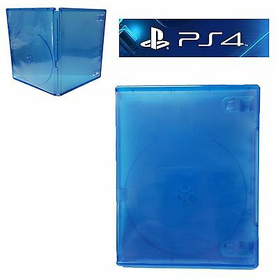 100 Playstation 4 Ps4 Translucent Clear Blue Replacement Empty Game Cases New