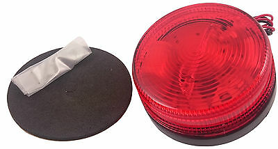 Kinetic Xenon Strobe Light Red - Flashing Security Fire Alarm Beacon - Kst35R