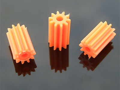 10x long Soft orange 102A Spindle gears Soft plastic Motor gears Straight teeth