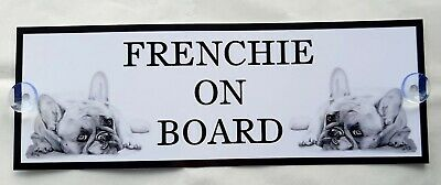 Frenchie On Board Car Sign (B)