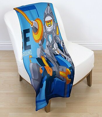 EXTRA LARGE - New Lego Knights 'Power' Fleece Blanket Kids Boys Soft Bed Throw