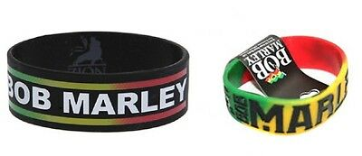 # Bob Marley - Rasta Lion Logo - Official Rubber Wristband