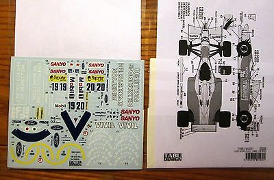 Decal: 1/20 Tab 1992 Benetton B192 Full Sheet