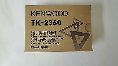 Kenwood TK-2360 VHF Portable 5W 16 Channel 136-174 MHz Portable and Clip only