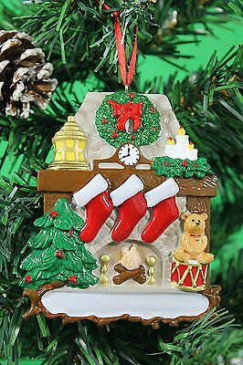 Personalised Family of 3,4,5 Christmas Tree Ornament - Fireplace Decoration
