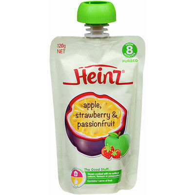 Heinz Apple Strawberry and Passionfruit 120G NEW Cincotta Chemist