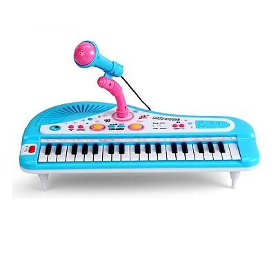 Kids Electronic Organ Keyboard Piano 37 keys With Microphone Musical Toy Gift