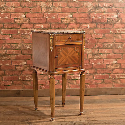 Antique Pot Cupboard, Mahogany Bedside Table, French Period Furniture c.1900