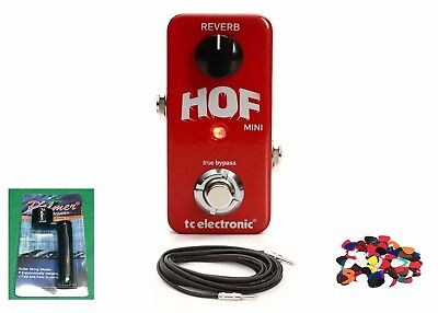 New TC Electronic HOF Mini Reverb Effects Pedal w/ Free Cable, Winder & Pics