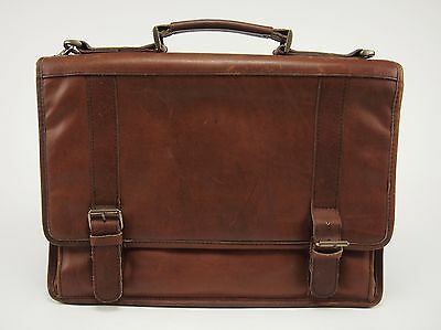 FRANKLIN COVEY Riverwood Vintage Oil-tanned Leather Flapover Briefcase